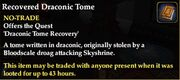 Recovered Draconic Tome
