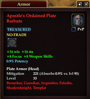 Apostle's Ordained Plate Barbute