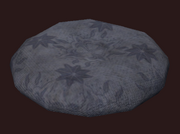 Blackhearted Round Pillow (Visible)
