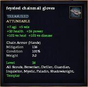 Feysteel chainmail gloves