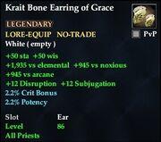 Krait Bone Earring of Grace