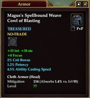 Magus's Spellbound Weave Cowl of Blasting