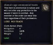 Dismal rage ceremonial boots