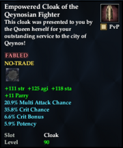 Empowered Cloak of the Qeynosian Fighter