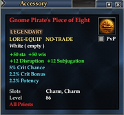Gnome Pirate's Piece of Eight