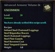 Advanced Armorer Volume 24