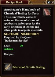 Apothecary's Handbook of Chemical Testing for Pests