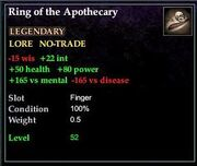 Ring of the Apothecary