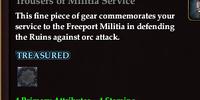 Trousers of Militia Service