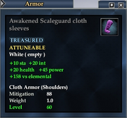 Awakened Scaleguard cloth sleeves