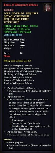 Boots of Whispered Echoes