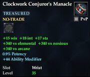 Clockwork Conjuror's Manacle