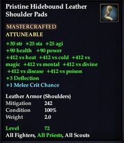 Pristine Hidebound Leather Shoulder Pads