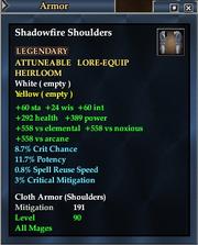 Shadowfire Shoulders