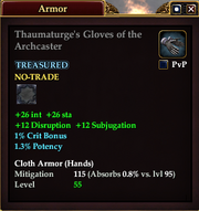 Thaumaturge's Gloves of the Archcaster