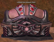 A blood iron treasure chest