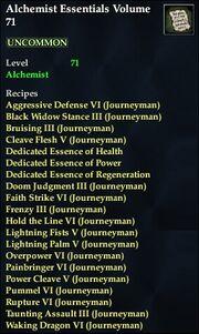 Alchemist Essentials Volume 71