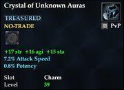 Crystal of Unknown Auras