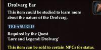 Drolvarg Ear
