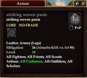 Striking woven pants