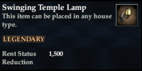 Swinging Temple Lamp