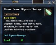 Focus- Lesser Riposte Damage