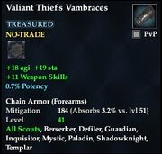 Valiant Thief's Vambraces