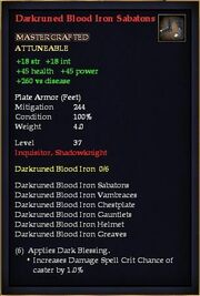 Darkruned Blood Iron Sabatons