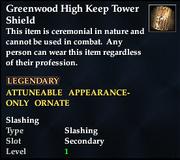 Greenwood High Keep Tower Shield