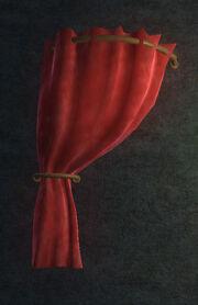 Red Velvet Curtain Left Placed