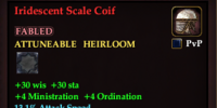 Iridescent Scale Coif