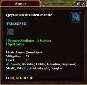 Qeynosian Studded Mantle