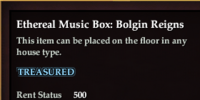 Ethereal Music Box: Bolgin Reigns