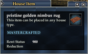 Pristine golden nimbus rug