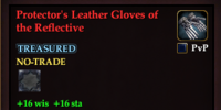 Protector's Leather Gloves of the Reflective