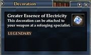 Greater Essence of Electricity
