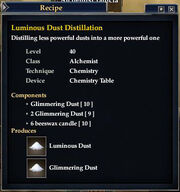 Luminous Dust Distillation