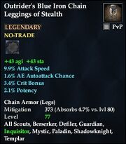 Outrider's Blue Iron Chain Leggings of Stealth