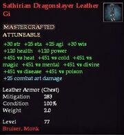 Sathirian Dragonslayer Leather Gi