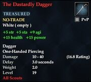 The Dastardly Dagger