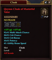 Qeynos Cloak of Masterful Valor