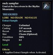 Rock sampler