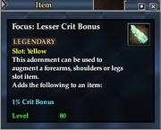 Focus- Lesser Crit Bonus
