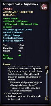 Miragul's Sash of Nightmares