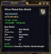Silver plated kite shield