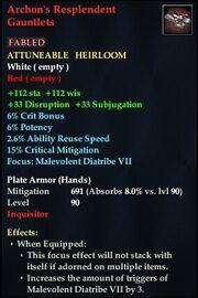 Archon's Resplendent Gauntlets