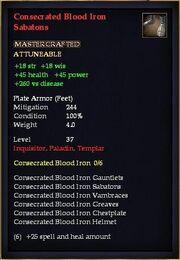 Consecrated Blood Iron Sabatons