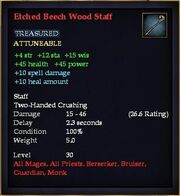 Etched Beech Wood Staff