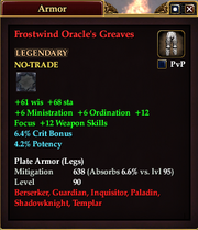 Frostwind Oracle's Greaves