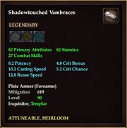 Shadowtouched Vambraces